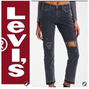 NWT Levi's 505C Frayed Hem Cropped Jeans